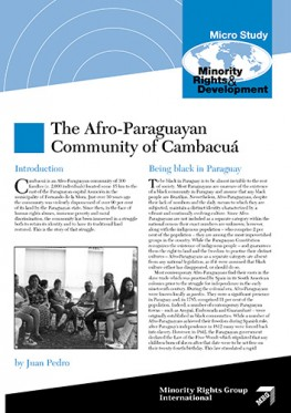 The Afro-Paraguayan Community of Cambacua