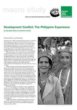 Development Conflict: The Philippine Experience (November 2002)