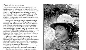 Indigenous Peoples and Poverty: The Cases of Bolivia, Guatemala, Honduras and Nicaragua (February 2003)