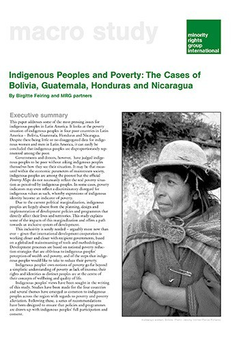 poverty and the suppression of minority indigenous groups in the spanish state of bolivia
