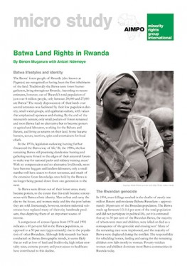 Batwa land rights in Rwanda