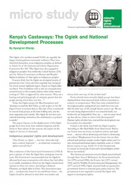Kenya's Castaways: The Ogiek and National Development Processes (March 2003)