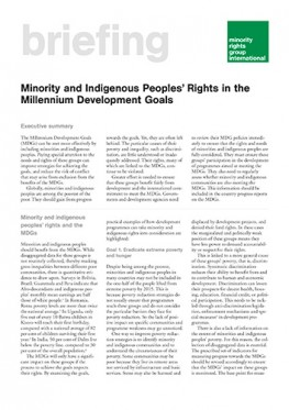 Minority and Indigenous Peoples' Rights in the Millennium Development Goals (May 2003)