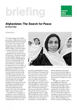 Afghanistan: The search for peace