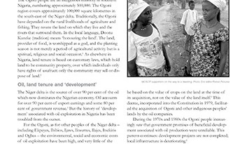 The Ogoni of Nigeria: Oil and Exploitation