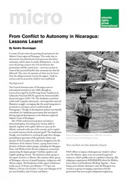 From Conflict to Autonomy in Nicaragua: Lessons Learnt