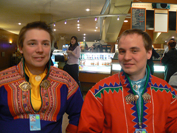 Two young Sami reindeer herders discuss climate change