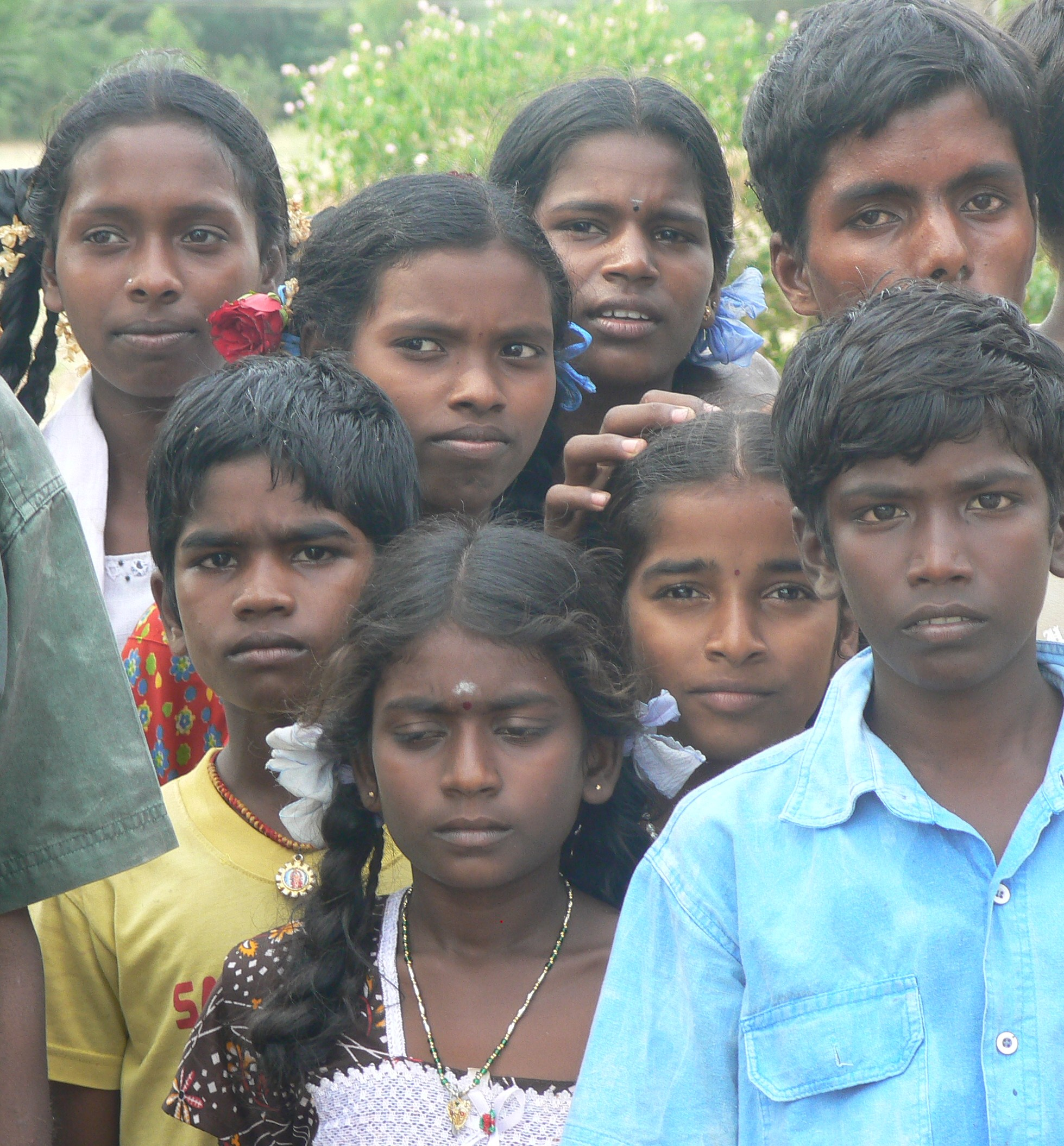 Rural Tamil children