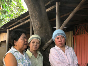 Cham residents describing their fears of eviction
