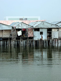 Traditional houses on stilts