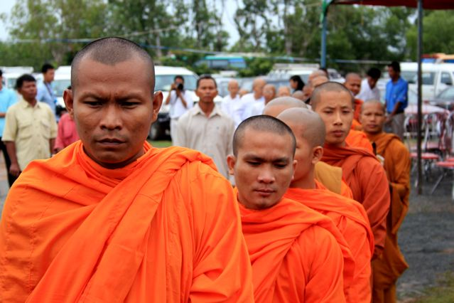 "Buddhist monks attend the judgment of ""Duch"""