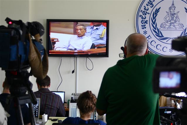 "Journalists watch the judgment of ""Duch"""