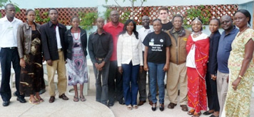 Participants at media training in Kenya