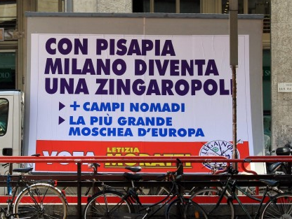 Xenophobic billboard in Italy