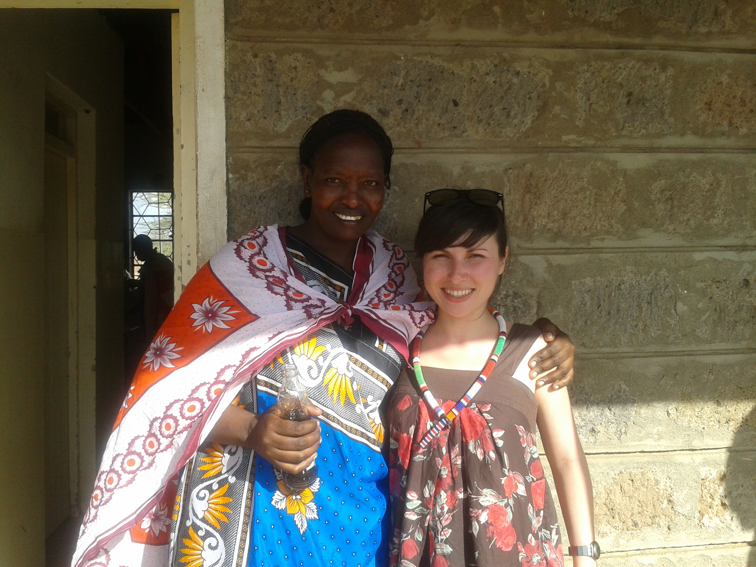 Maasai woman and Victoria