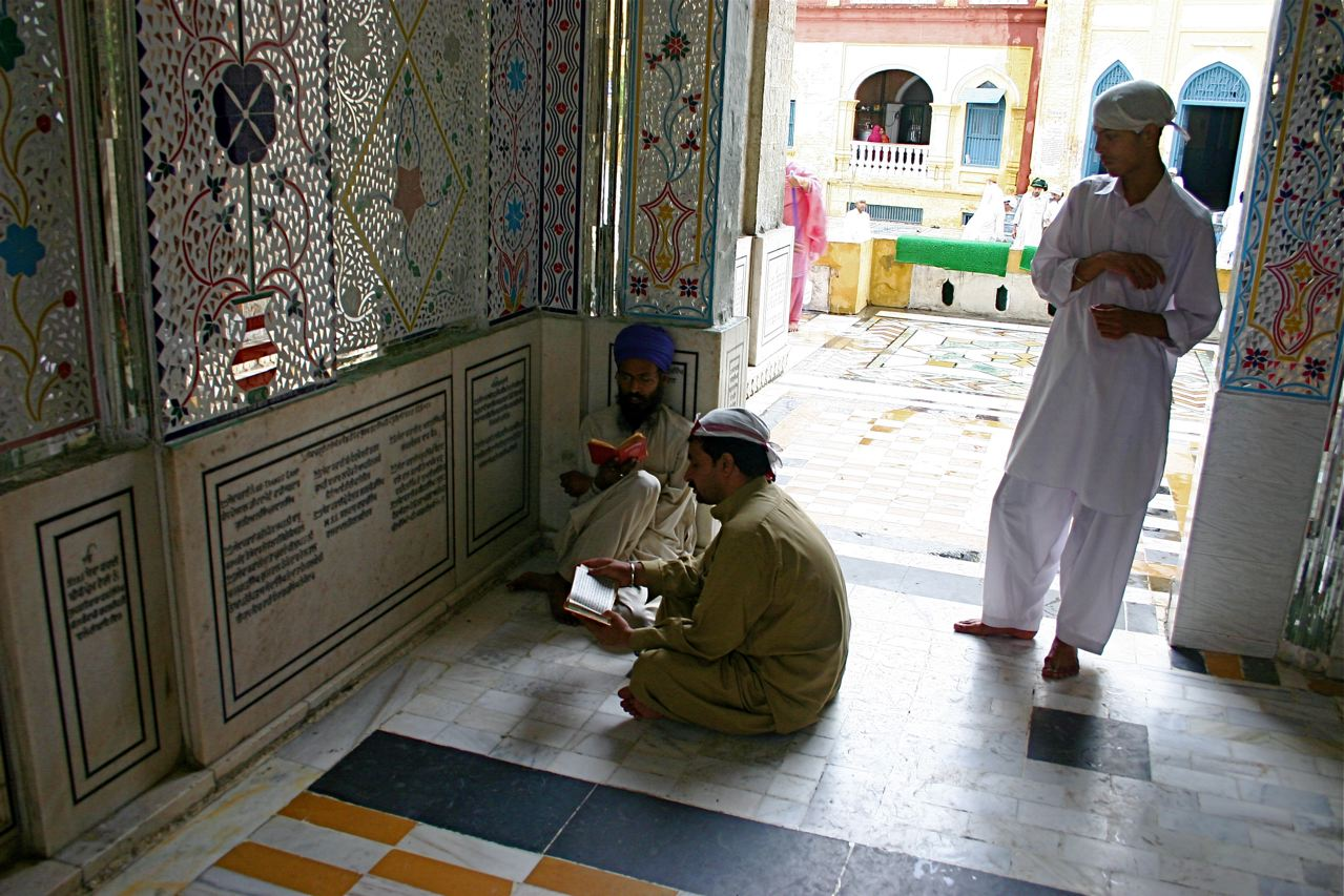 Members of Pakistan's Sikh minority pray for peace at a temple in Hassanabdal. Credit: Jared Ferrie.