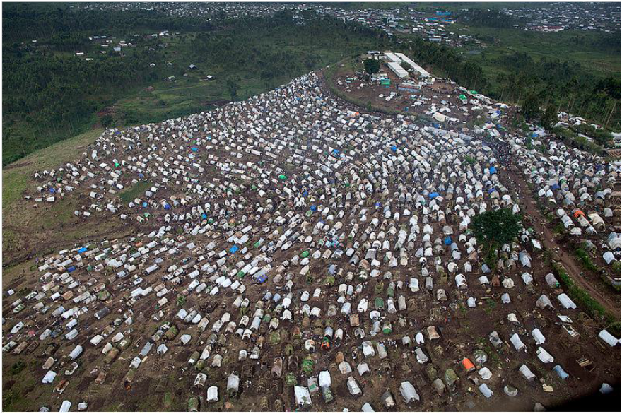 The MONUSCO camp is on a hill 2 kms away from Kitshanga…they could do better to protect civilian from the killings and from massive property destruction.