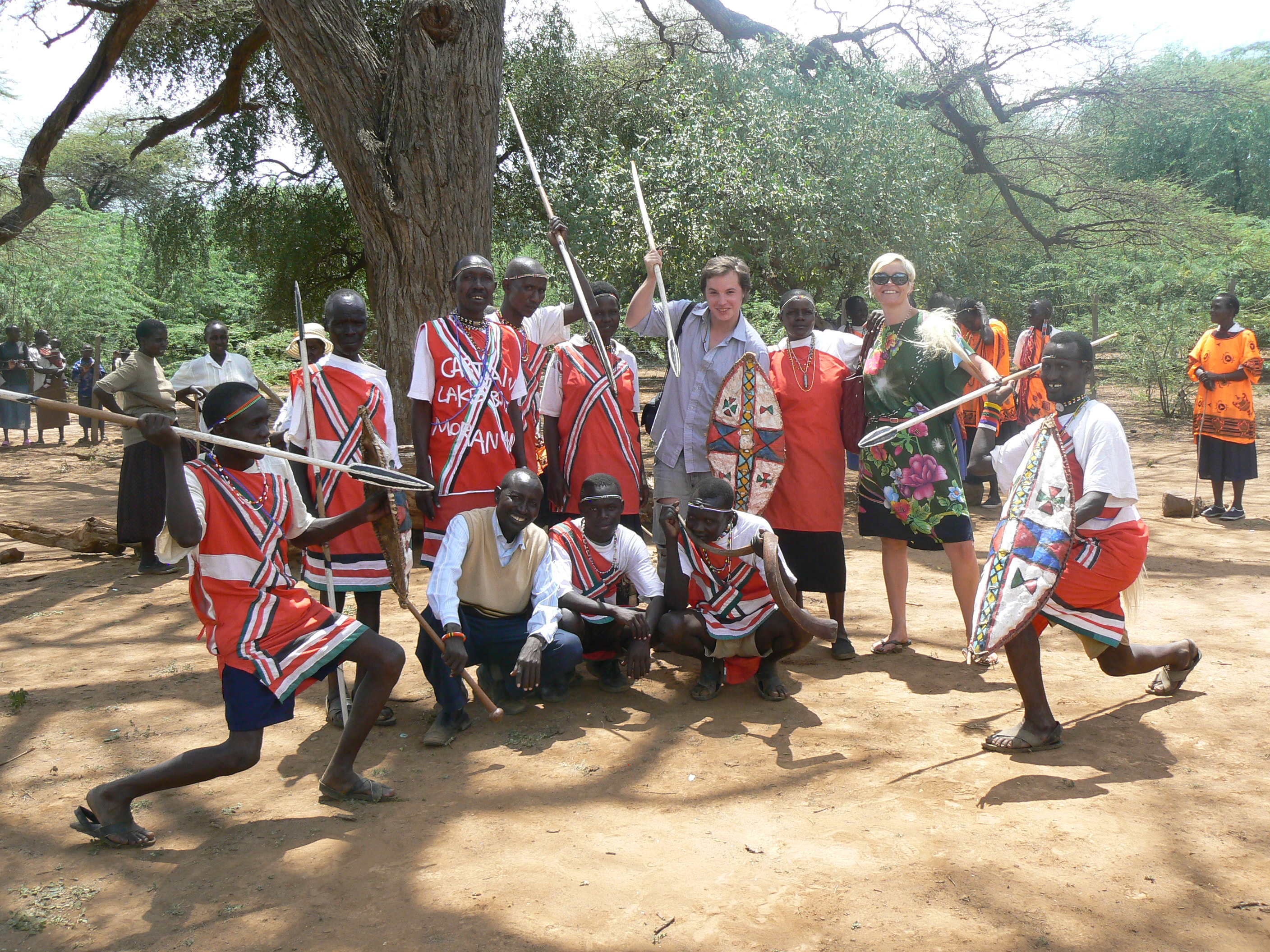 The Endorois community with MRG staff in Kenya