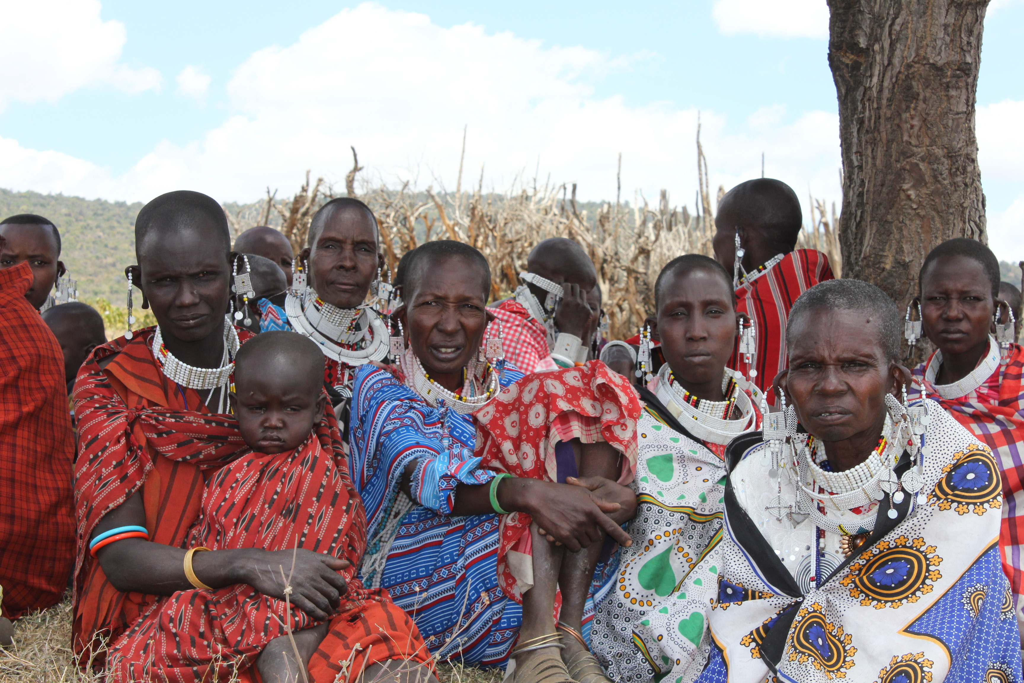 Maasai women of Sukenya village. Copyright Carla Clarke, MRG.