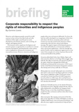 Corporate responsibility to respect the rights of minorities and indigenous peoples