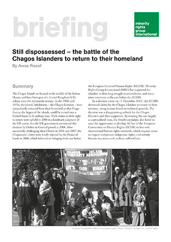 Still dispossessed – the battle of the Chagos Islanders to return to their homeland