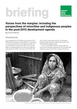 Voices from the margins: including the perspectives of minorities and indigenous peoples in the post-2015 development agenda