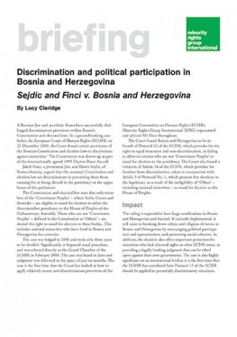 Discrimination and political participation in Bosnia and Herzegovina