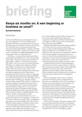 Kenya six months on: A new beginning or business as usual?