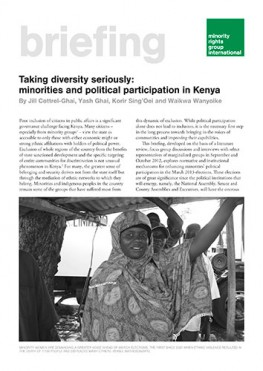 Taking diversity seriously: minorities and political participation in Kenya