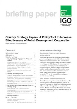 Country strategy papers: A policy tool to increase effectiveness of Polish development cooperation