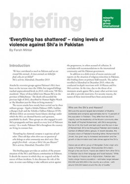 'Everything has shattered' – rising levels of violence against Shi'a in Pakistan