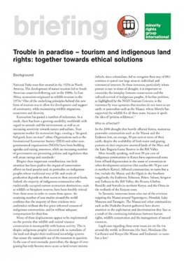Trouble in paradise – tourism and indigenous land rights: Together towards ethical solutions