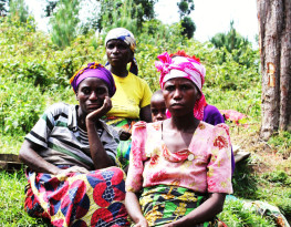 Batwa women in Uganda. Credit: MRG/Emma Eastwood