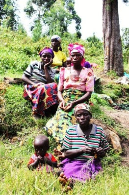Batwa women in Uganda. This photo was taken during one of our Minority Realities trainings.