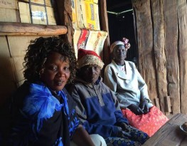 Christine with two Endorois elders