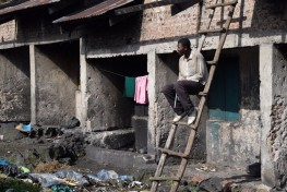 Batwa man in a slum on the outskirts of the town on Kisoro Credit: Paulina Pacula