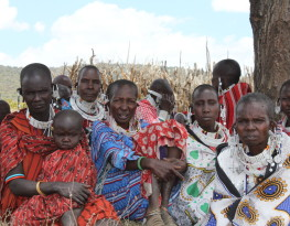 Maasai women at a meeting with MRG lawyers