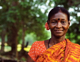 Geeta, Siddi woman in Kalleshawar, India. Credit: Andy Martinez