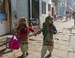 Two Muslim girls in Varanasi, India