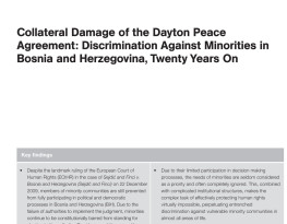 Twenty years on from Dayton - discrimination is ruining the lives of minorities in Bosnia and Herzegovina, new briefing