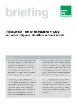 Still invisible – the stigmatization of Shi'a and other religious minorities in Saudi Arabia