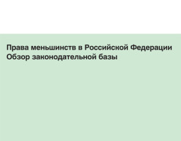 Pocket book for Russian non-governmental organizations and grassroots minority organisations