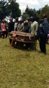 Stephen Munyerere's funeral ceremony on 22 March