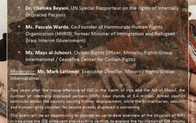 Side Event at UN Human Rights Council on Iraq's Displacement Crisis