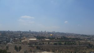 The Mount of Olives offers a stunning view of the Old City of Jerusalem