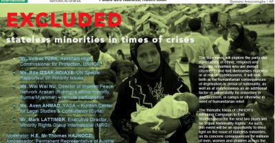 Excluded: Stateless minorities in times of crisis
