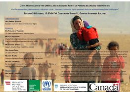 25th Anniversary of the UN Declaration on the Rights of Minorities - panel discussion in New York