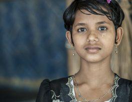 Rohingya girl in Myanmar.