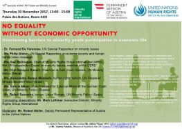 No equality without economic opportunity - overcoming barriers to minority youth participation in economic life
