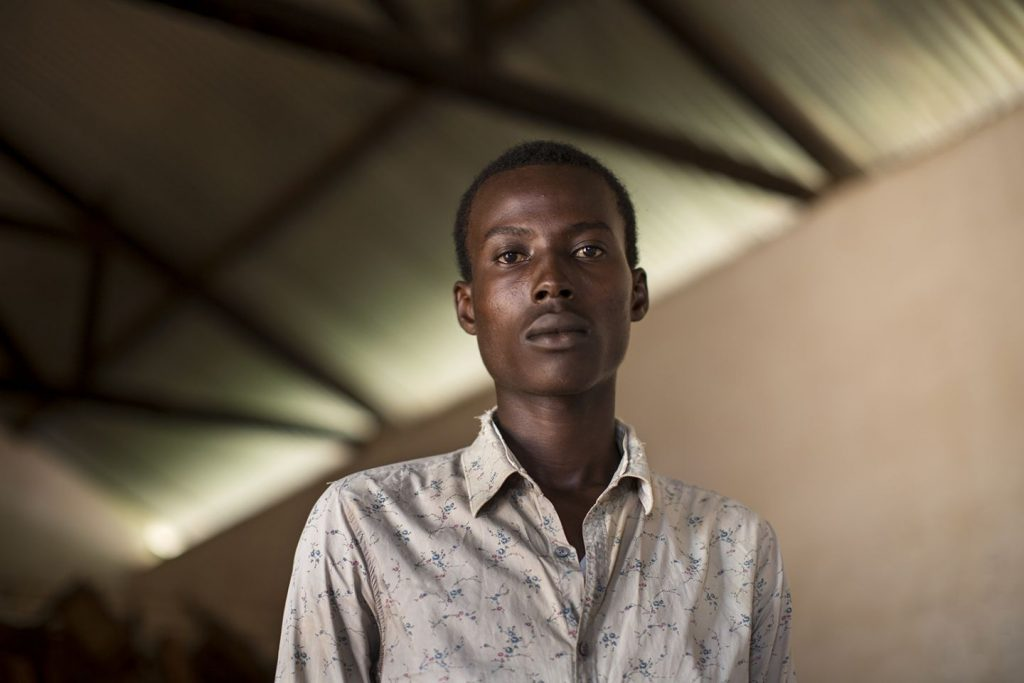 Haroun, a Muslim returnee, poses for a portrait in Berberati, CAR. Credit: Will Baxter.